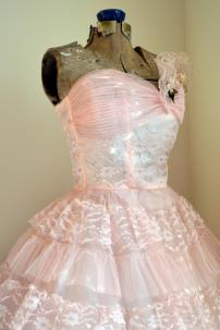 Baby Pink tulle vintage dress