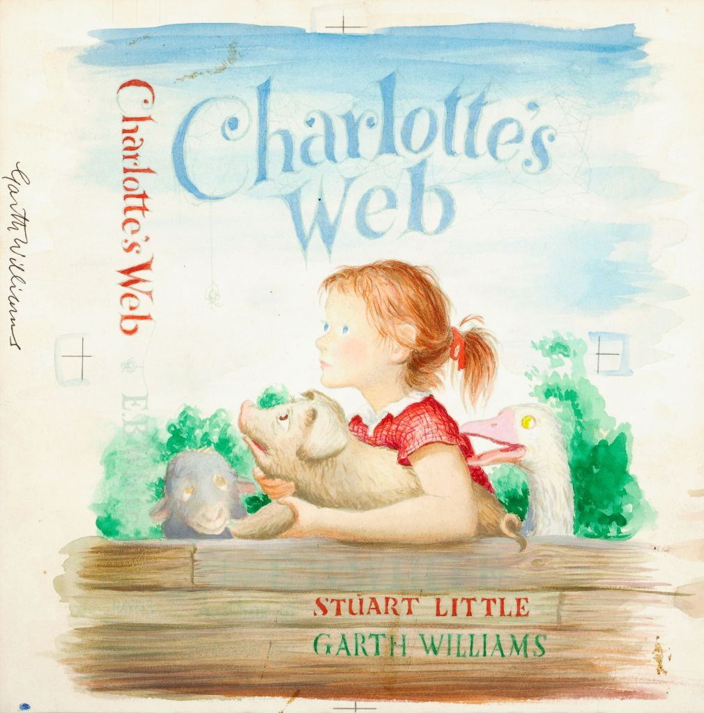 Printable Charlotte S Web Book Cover : Charlotte s web book cover art sells for