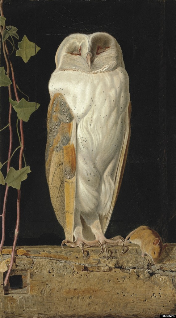 Victorian Owl Painting
