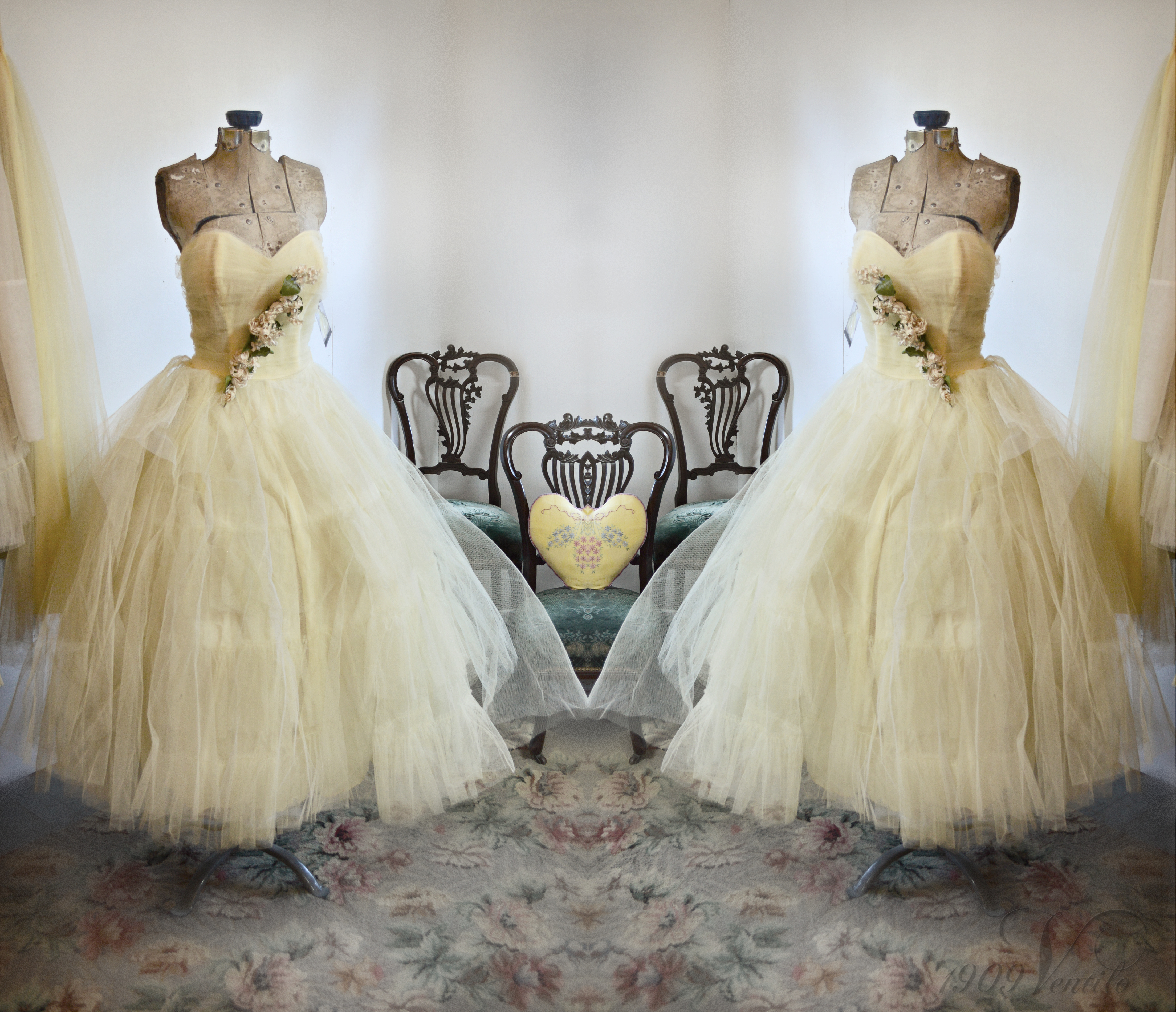 50s buttercup yellow tulle prom dress. | 1909ventilo\'s Blog